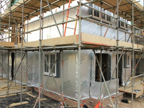 Aluminum foil house wrap kills wi fi signals for Concrete wall insulation wrap